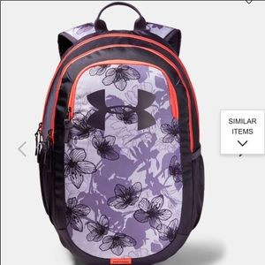 Under Armour scrimmage purple backpack NWT
